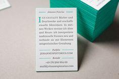 Johannes Pistorius letterpress business cards