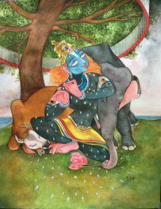 Vanvihari. #Watercolor #krishnafortoday