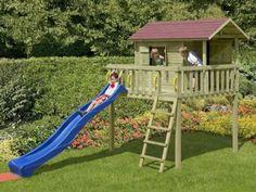 Spielhaus-Set-Kinderspielhaus-Baumhaus-Stelzenhaus-mit-Rutsche