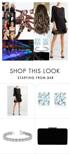 """""""Going out with the girls to celebrate her bachelorette party"""" by maryofscotland ❤ liked on Polyvore featuring Beauty Secrets, Louis Vuitton, Oscar de la Renta, Tiffany & Co., Allurez, John Lewis and Jimmy Choo"""