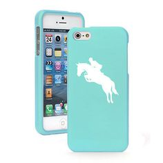 For Apple iPhone 4 4S 5 5S 5c Rubber Hard 2 Piece Case Cover Horse with Rider | eBay