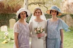 Lady Sybil, Lady Edith, and Lady Mary all spring time loveliness on #DowntonAbbey.