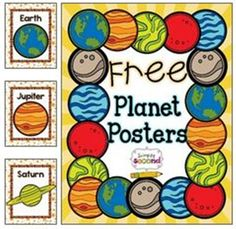 Planet Names Posters Free Download - 27 Classroom Poster Sets: Free and Fantastic - Teach Junkie