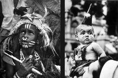 Crianças fantasiadas no carnaval de rua do Rio de Janeiro, março de 1951.