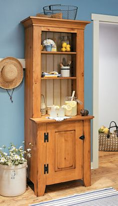 Step-Back Cupboard    Woodsmith Plans -   A rustic-style piece of furniture like this cupboard can add personality, plenty of storage, and a classic feeling of comfort to any room.  Simple, country-style furniture has an unpretentious charm that's attractive and comforting in these complicated times. This classic step-back cupboard hits that mark square on.