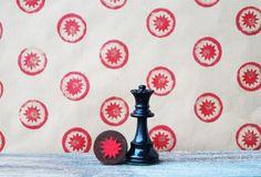 chess piece stamp