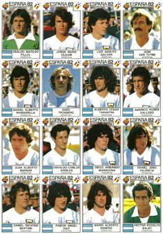Argentina stickers for the 1982 World Cup Finals. Fifa Football, Best Football Team, Retro Football, World Football, Football Match, Argentina Team, Argentina World Cup, Argentina Football, Football Stickers