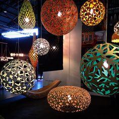 David Trubridge #lighting at the West Edge Design Fair, 2014. Photo by @cozystylishchic