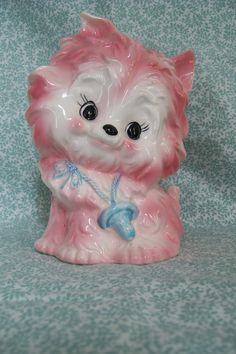 Vintage Caffco PINK CAT PLANTER - no.3351 Nursery - Treasury Item