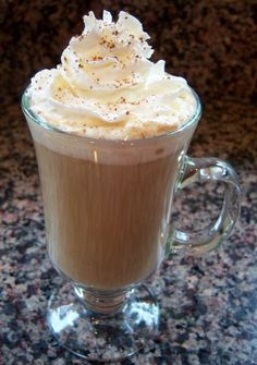 Pumpkin Spice Latte copycat. This is good! I like a lot of flavor, so I added more spice and pumpkin.  - Kristin