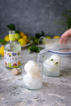 Lemon sorbet gin and tonic recipe