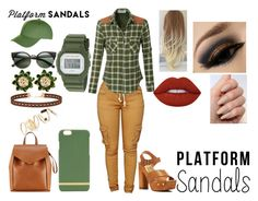 """Platform Sandals"" by autumnstephanie ❤ liked on Polyvore featuring Dolce Vita, Lime Crime, BP., Miss Selfridge, Loeffler Randall, Richmond & Finch, Topshop, First People First and G-Shock"