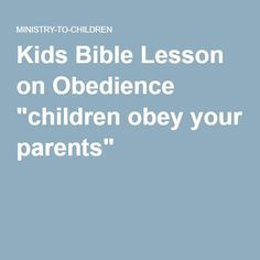 obedient child essay Obedience, in human behavior, is a form of social influence in which a person  yields to explicit  many traditional cultures regard obedience as a virtue  historically, societies have expected children to obey their elders (compare  patriarchy,.
