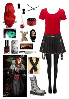 """""""Creepypasta: Daughter of Jason The Toymaker"""" by ender1027 ❤ liked on Polyvore featuring Wolford, Bobbi Brown Cosmetics, Rianna Phillips, Disney Couture, Goody and Sian Bostwick Jewellery"""