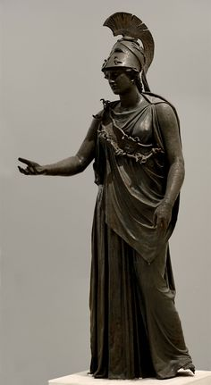 "theancientwayoflife: ""~Statue of Athene (""The Peiraeus Athena""). Medium: Bronze Date: 340—330 BCE. Athens, Archaeological Museum of Piraeus (Αθήνα, Αρχαιολογικό Μουσείο Πειραιά) """