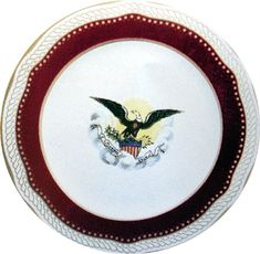 China Collection - White House Museum. The Lincoln china with purple border.