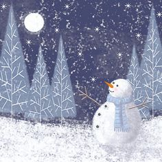 Buy Midnight Snowman Charity Christmas Cards, Box of 6 Online at johnlewis.com