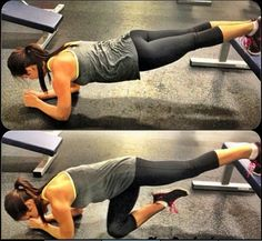 #SuperGirlzFitness #Challenge DAY 10!  Follow one of the calendars I posted on the 1st OR follow my lead and build on your own time.   I'm at a 1:34 hold. How about you? What's your longest hold?  *PHOTO* Want to try a new move? Go for the #declineplank (top pic). Ready to take it up a notch add in a knee crunch.