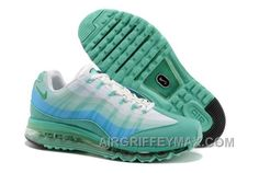 new styles dcae9 f2588 New Zealand 2014 New Nike Air Max 95 360 Mens Shoes Wire Drawing Green  White Online