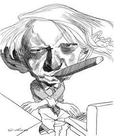 david levine caricature of anthony burgess