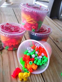 BEAD CUP KIT Summer Camp Birthday Party Boys Girls Kids Animals Party Necklace Bead Craft. $12.00, via Etsy.
