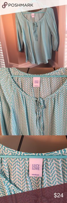 Lucy Love Beautiful Blouse -Like New Condition -Only Worn a Couple of Times -Very Comfortable Material -Great Brand -100% Rayon Lucy Love Tops Blouses