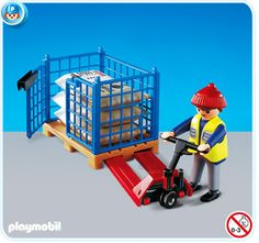 PLAYMOBIL® Hubwagen mit Gitterbox