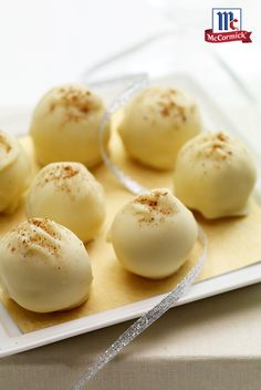 This eggnog truffles recipe makes for the perfect Christmas party dessert. Or, package the truffles in a holiday tin between wax paper for an easy and delicious holiday gift.