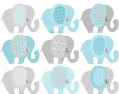 Items Similar To Gender Neutral Baby Clipart Elephant Shower Reveal Clip Art On Etsy