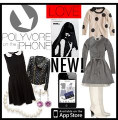 """""""POLYVORE on the iPHONE"""" by agathap ❤ liked on Polyvore"""