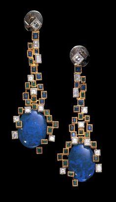 Andrew Grima Opal Earrings 1966