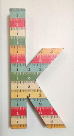 Eco-friendly, handmade, custom, kid friendly, decorative wall letters.