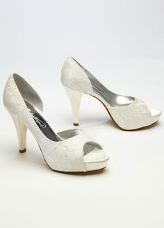 Lace Sequin D Orsay Wedding & Bridesmaid Peep Toe Shoe Women's