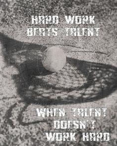 Lacrosse Hard Work Motivational Poster Original Design via Etsy