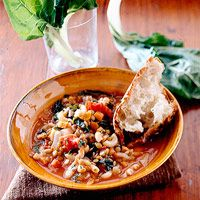 This flavorful and filling soup, chock-full of vegetables, lentils, and pasta, needs only some crusty bread to become a meal. And there's enough to enjoy another day.