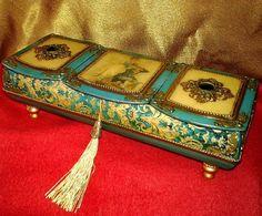 Купить Шкатулка «Бирюзовая прелесть» для украшений - бирюзовый, бирюзовая шкатулка, шкатулка для украшений, подарок девушке