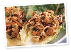 Hazelnut Asian Lettuce Wraps.  I loooooove these, although I have never actually used hazelnuts.  So I guess for me they are just Asian Lettuce Wraps.  :)