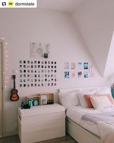 31 Nice Simple Dorm Room Decor You Should Copy Room Ideas Bedroom, Room Decor Bedroom, Bedroom Inspo, Diy Bedroom, Bedroom Designs, Bedroom Ideas For Teens, Diy Teen Room Decor, Girls Bedroom, Bedroom Furniture