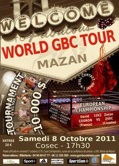 Première édition #WorldGBCTour 2011 Tournament 4 men -70kg Fullcontact #Codron #DatoJavakhia #DimaWeimer #MarioAgatic Fullcontact Championnat d'Europe #DavidCodron vs #ZoranZvec
