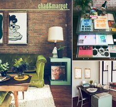 I am really lovingChad KouriandMargot Harrington's Chicago loft. I have always dreamed of having exposed brick in my home so this instantly caught my attention. Not to mention I'm a sucker for a space that really displays the owner's creativity.Oh hey Bill Cosby….  See all the imagesover here.
