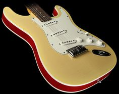 Fender Custom Shop Double Bound Slab Body Stratocaster Electric Guitar Nocaster Blonde Transparent