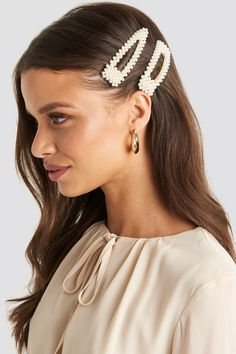 NA-KD Gold Round Uneven Hairpin in Metallic - Lyst