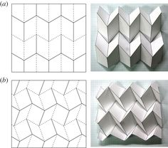 Usually, origami-based morphing structures are designed on the premise of 'rigid folding', i. the facets and fold lines of origami can be replaced with rigid panels and ideal hinges, respectively. Origami Ball, Origami Diy, Origami And Kirigami, Origami Paper Art, Origami Folding, Diy Paper, Paper Crafting, Origami Ideas, Origami Mobile