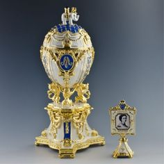 Royal Danish Faberge Egg Inspired
