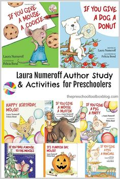 Come read, play, and learn with a Laura Numeroff Author Study JUST for Preschoolers! via @pschooltoolbox