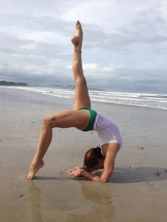 yoga on the beach---officially added to my bucket list