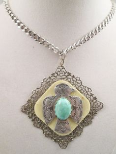 Coro Vintage Jewelry Southwestern Necklace Pendant by BADTIQUE $149.85 #Coro#CoroNecklace