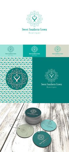 """Айлин Хакова Графичен Дизайн: Лого дизайн за """"Sweet Southern Crown"""" - бутик дамс..."""