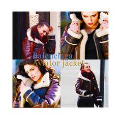 Katie McGrath - Balenciaga aviator jacket