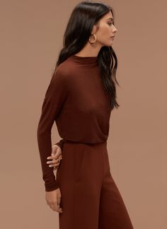 Wilfred LUSSAC T-SHIRT | Aritzia • Caramelized • Size Med